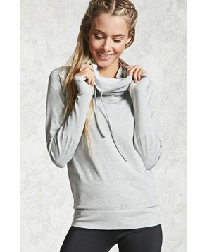 Forever 21 Active 09 Cowl Neck Hoodie
