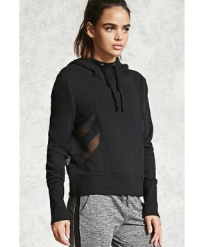 Forever 21 Active Mesh-Paneled Hoodie