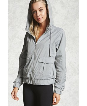 Forever 21 Active Mesh Hooded Jacket