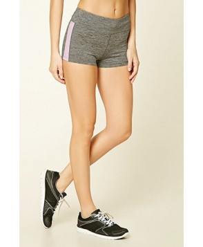 Forever 21 Active Heathered Striped Shorts