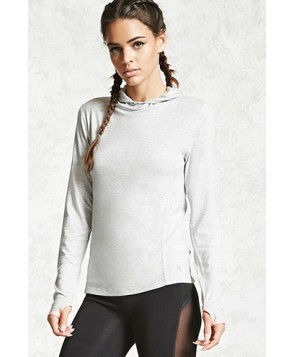 Forever 21 Active Heathered Knit Hoodie