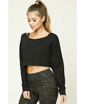Forever 21 Active Cutout-Back Sweatshirt