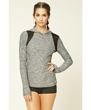 Forever 21 Active Marled Hooded Pullover