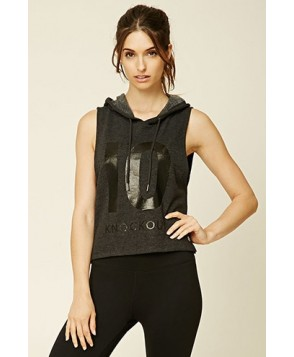 Forever 21 Active Hooded Knockout Vest