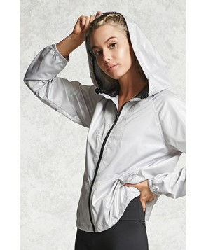 Forever 21 Active Hooded Zip-Up Jacket
