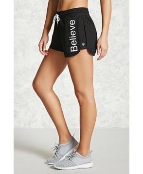 Forever 21 Active Believe Graphic Shorts