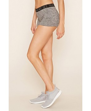 Forever 21 Active Heathered Zipper Shorts