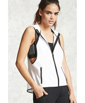 Forever 21 Active Mesh Hooded Vest