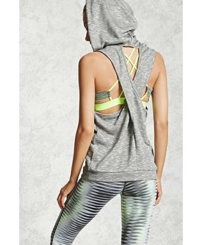 Forever 21 Active Sleeveless Hooded Top