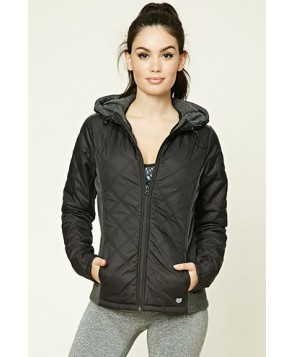 Forever 21 Active Hooded Quilted Jacket