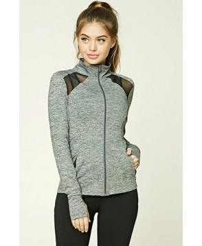 Forever 21 Active Marled Knit Jacket