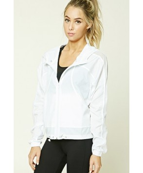 Forever 21 Active Mesh Paneled Windbreaker
