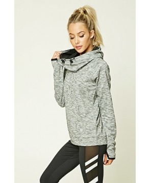 Forever 21 Active Marled Hoodie
