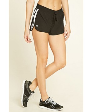 Forever 21 Active Striped Mesh Shorts