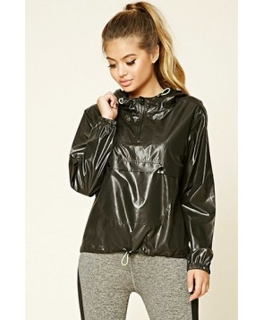 Forever 21 Active Drawstring Hooded Anorak
