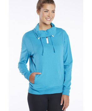 Fabletics T Shirt Kingston Pullover Womens Blue/Green