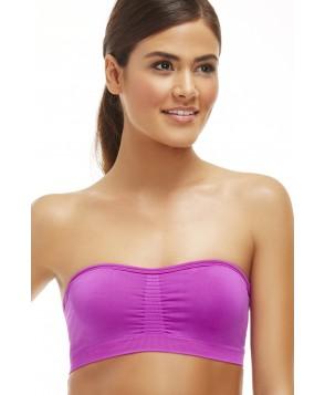 Fabletics Sports Bras Sevan Bandeau Womens Purple