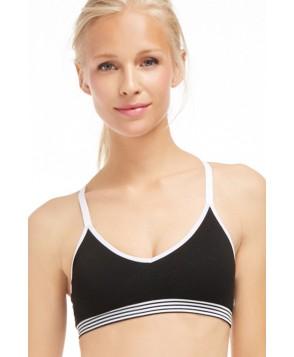 Fabletics Sports Bras Juneau Seamless Bra Womens Black/White