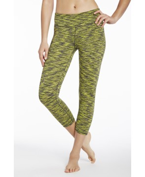 Fabletics Capris Salar Capri Womens Black/Yellow