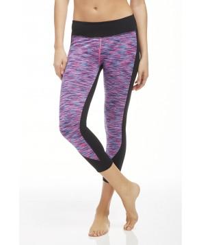 Fabletics Capri Sydney Womens Black/Pop Pink Stripe
