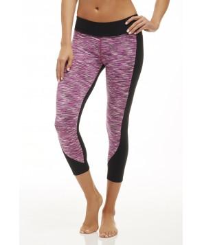 Fabletics Capri Sydney Womens Black/Orchid Purple Multi Stripe