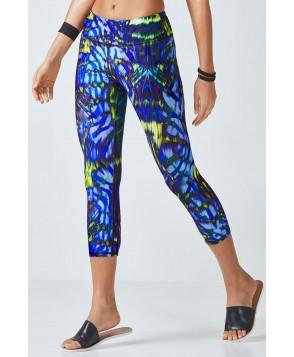 Fabletics Capris Salar Capri Womens Electric Zebra Print