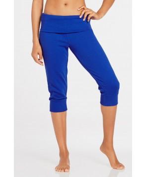 Fabletics Bottom Hamilton Sweatpant Foldover Womens Blue
