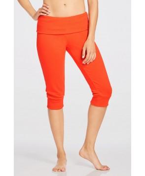 Fabletics Bottom Hamilton Sweatpant Foldover Womens Orange