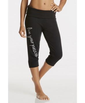 Fabletics Bottom Hamilton Sweatpant Foldover Womens Black/White Print