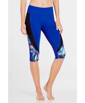 Fabletics Bottom Navassa Crop Womens Bright Blue/Reef/Liquid Black