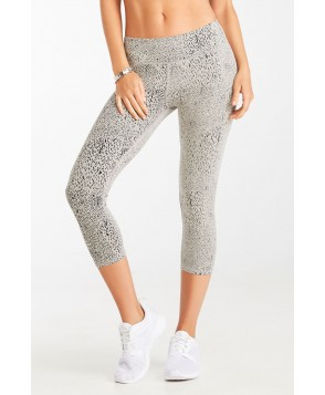 Fabletics Capri Burnout Womens Black Heather Constellation Print