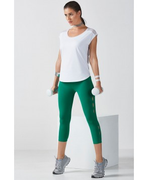 Fabletics Santana Womens White/Green One  Fits Most