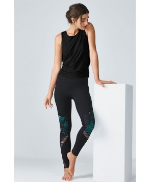 Fabletics Agnes Womens Black/Green One  Fits Most