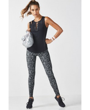Fabletics Upsala Womens Dark Grey Confetti Print One  Fits Most