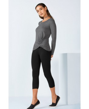 Fabletics Kaya Womens Gray/Black One  Fits Most