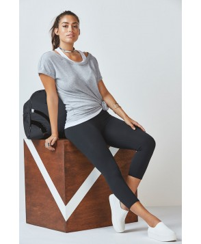 Fabletics Eileen Womens Grey Heather/White One  Fits Most