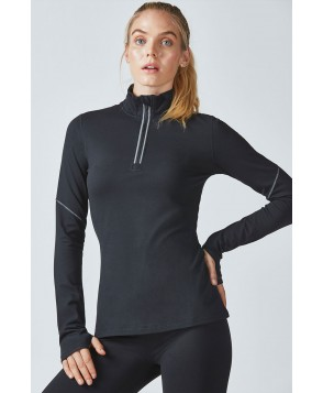 Fabletics Tees Emery Cold Weather Half-Zip Womens Black