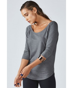 Fabletics Tees Palisades L/S Tee Womens Gray