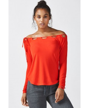 Fabletics Tees Carla L/S Tee Womens Red