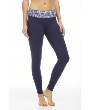 Fabletics Leggings Zipper Legging Womens Blue
