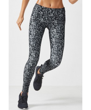 Fabletics Leggings Salar Legging Womens Dark Grey Confetti Print