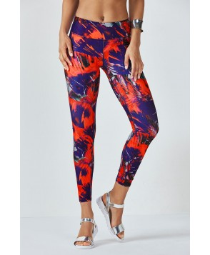 Fabletics Leggings Salar Legging Womens Electric Feathers Print