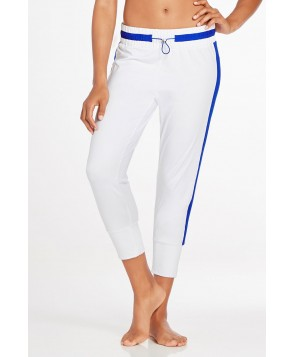 Fabletics Pants Victoria Pant Womens White/Bright Blue