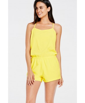 Fabletics Shortss Neema Romper Womens Yellow