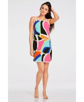 Fabletics T Shirt Wonda Dress Womens Popsicle Print/Black/White