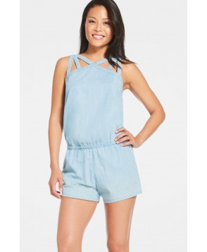 Fabletics Shortss Liza Romper Womens Blue
