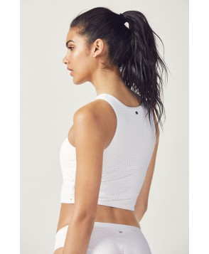 Fabletics Sports Bra Valentina Midi Bikini Top Womens White