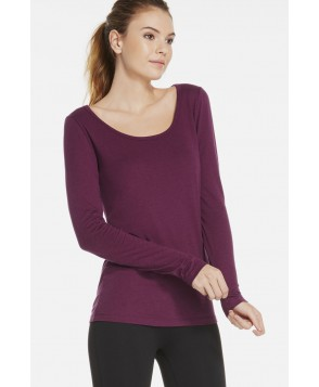 Fabletics T Shirt Scoop Tee Ii Womens Purple