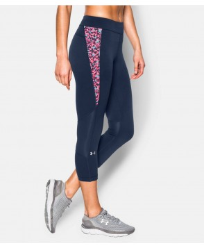 Under Armour HeatGear Armour Print Inset Crop