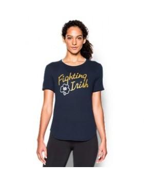 Women's Notre Dame UA Tri-Blend Shirzee T-Shirt